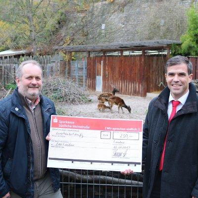 Stiftergemeinschaft der Sparkasse: 230 Euro für den Landauer Zoo